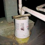 Plumbing - pail support